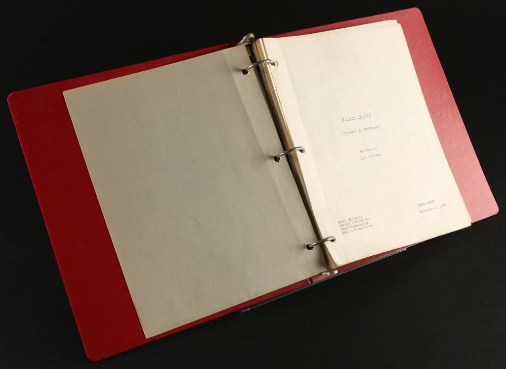 63344 Star Trek Original Series Director M OHerlithy Script Tomorrow is Yesterday_2