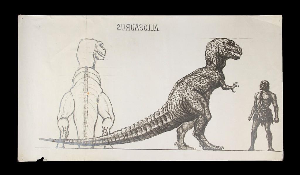 OneMillionYearsBC-RayHarryhausenConceptOfAllosaurus1