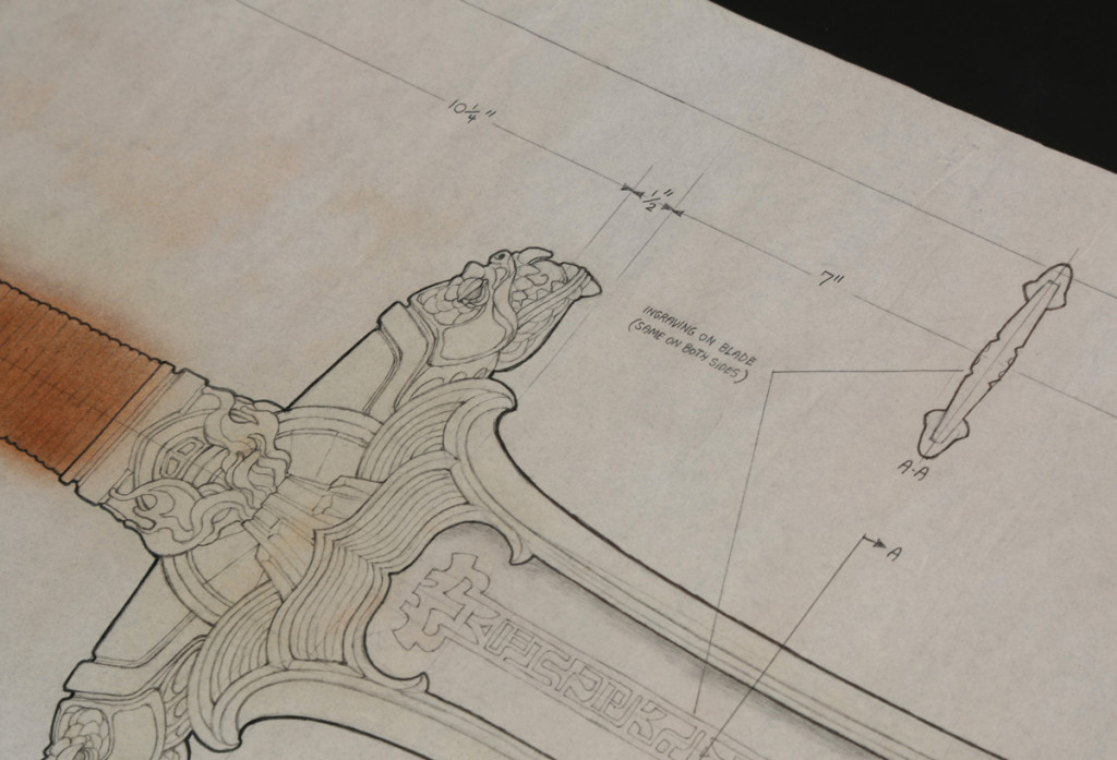 73542_Ron-Cobb-Hand-Drawn-Atlantean-Sword-Production-Drawing_3