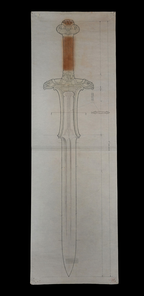 73542_Ron-Cobb-Hand-Drawn-Atlantean-Sword-Production-Drawing_1-catalogue